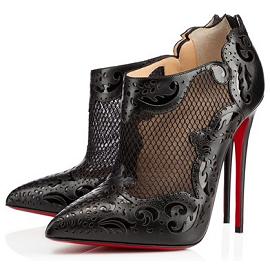 Christian Louboutin 'Mandolina' Fishnet Ankle Boots