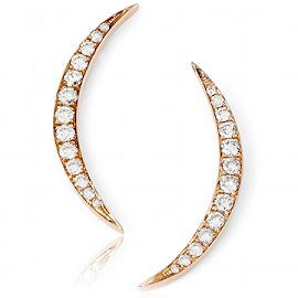 EF Collection Diamond Crescent Moon Studs