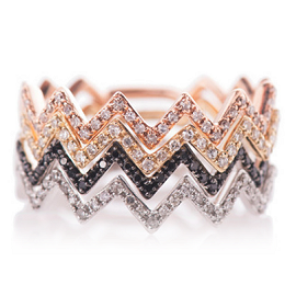 EF Collection Diamond Zig Zag Rings