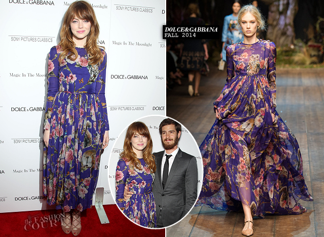 Emma Stone in Dolce & Gabbana | 'Magic In The Moonlight' NYC Premiere