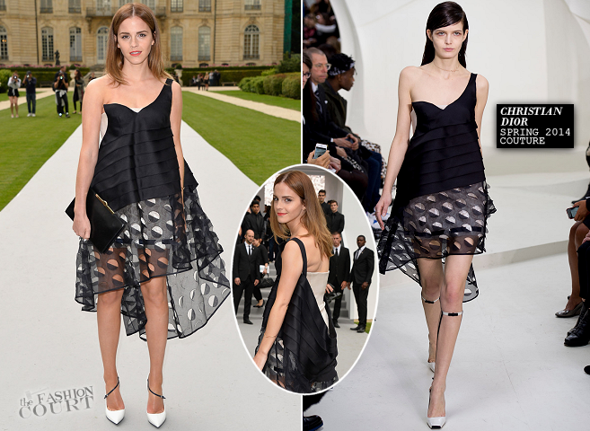Emma Watson in Dior Couture | Paris Couture Fashion Week: Fall 2014 – Front Row at Christian Dior