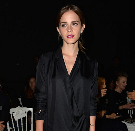 Emma Watson in Giambattista Valli & J Brand | Paris Couture Fashion Week: Fall 2014 – Front Row at Giambattista Valli