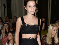 Emma Watson in Valentino | Paris Couture Fashion Week: Fall 2014 – Front Row at Valentino