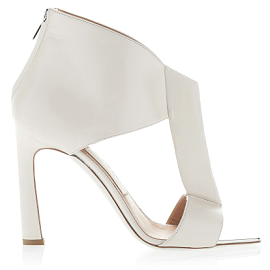 Salvatore Ferragamo Structured T-Strap Spring 2014 Sandals