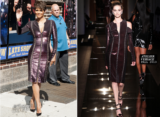 Halle Berry in Atelier Versace | 'Late Show with David Letterman'