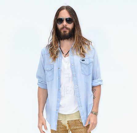 Jared Leto in Chanel | Paris Couture Fashion Week: Fall 2014 – Front Row at CHANEL