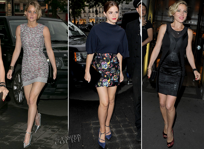 Jennifer Lawrence & Emma Watson in Dior | Dior Private Dinner - Paris Couture Fashion Week
