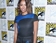 Kat Graham in Cut25 by Yigal Azrouël | Comic-Con 2014: The Vampire Diaries' Press Line