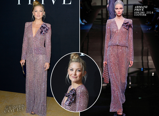 Kate Hudson in Armani Privé | Paris Couture Fashion Week: Fall 2014 – Front Row at Armani Privé