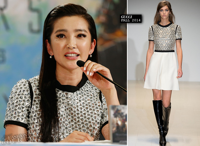 Li Bingbing in Gucci | 'Transformers: Age of Extinction' Berlin Photocall