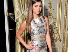 Nina Dobrev in Blumarine | My Theresa x Gianvito Rossi Dinner - Paris Couture Fashion Week