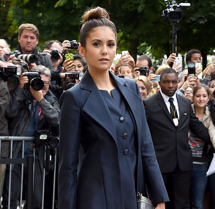 Nina Dobrev in Chanel | Paris Couture Fashion Week: Fall 2014 – Front Row at CHANEL