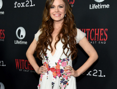 Rachel Boston in Alberta Ferretti | Comic-Con 2014: 'Witches Of East End' Season 2 Premiere