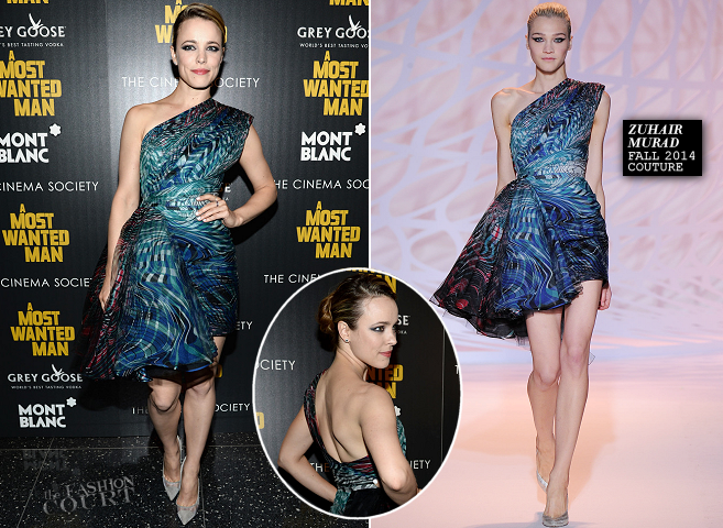 Rachel McAdams in Zuhair Murad Couture   'A Most Wanted Man' NYC Premiere