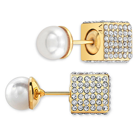 Vita Fede Double Cubo Pearl Earrings