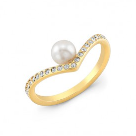 Vita Fede Ultra Mini V Pearl Ring