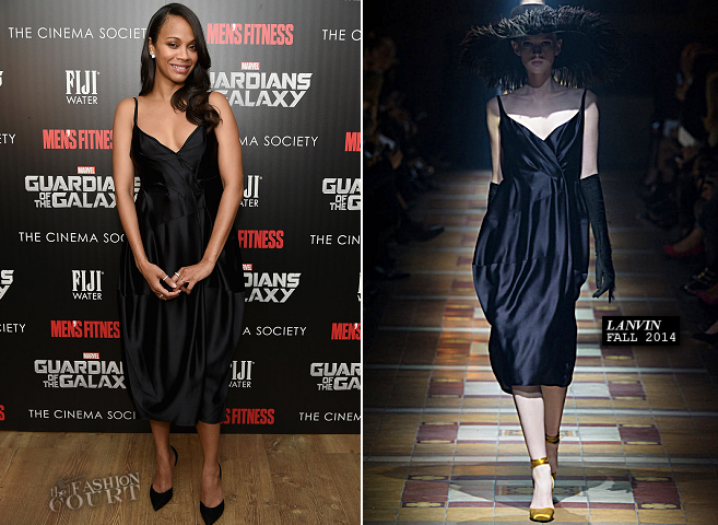 Zoe Saldana in Lanvin | 'Guardians of the Galaxy' NYC Screening