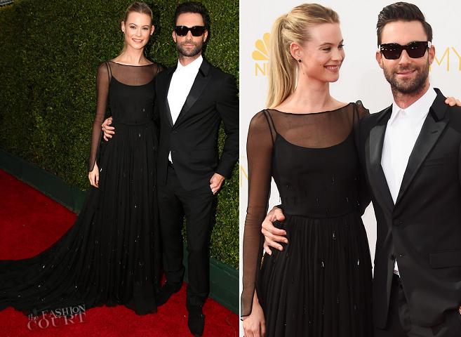 Adam Levine & Behati Prinsloo in Prada | 2014 Emmys