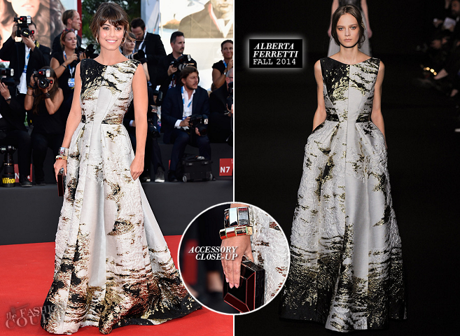 Alessandra Mastronardi in Alberta Ferretti | 'Birdman' Premiere - 2014 Venice Film Festival Opening Ceremony