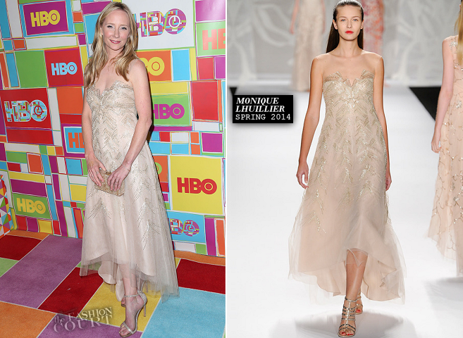 Anne Heche in Monique Lhuillier | HBO's Official 2014 Emmy After Party