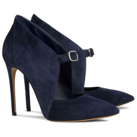 Casadei 'Bianca' Suede Bootie Mary-Jane Pumps