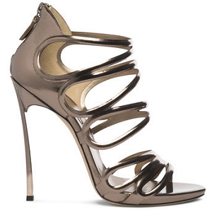 Casadei Strappy Metallic Blade Cage Sandals
