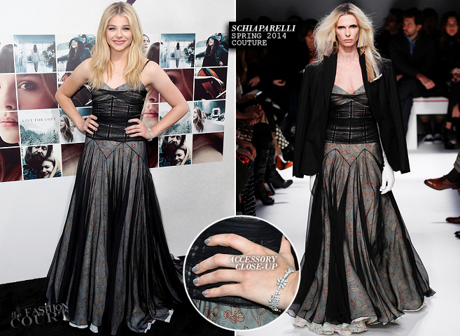 Chloë Grace Moretz in Schiaparelli Couture | 'If I Stay' Hollywood Premiere