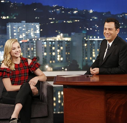 Chloë Grace Moretz in Simone Rocha and Dolce & Gabbana | 'Jimmy Kimmel Live'