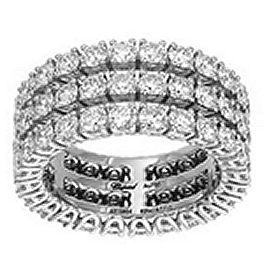Chopard White Gold and Diamond Triple Row Eternity Band