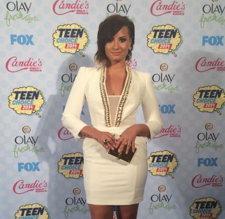 Demi Lovato in Elisabetta Franchi | 2014 Teen Choice Awards