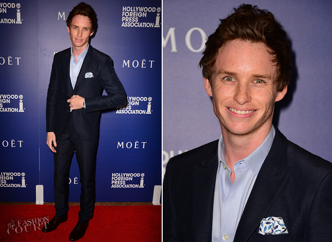 Eddie Redmayne in Burberry | HFPA Grants Banquet 2014