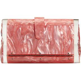 Edie Parker 'Lara' Pink Pearlescent Clutch with Perspex Ends