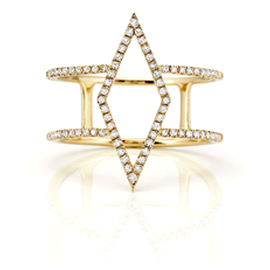 EF Collection Diamond Cutout Ring