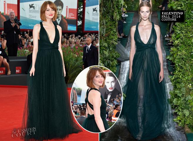 Emma Stone in Valentino Couture | 'Birdman' Premiere - 2014 Venice Film Festival Opening Ceremony