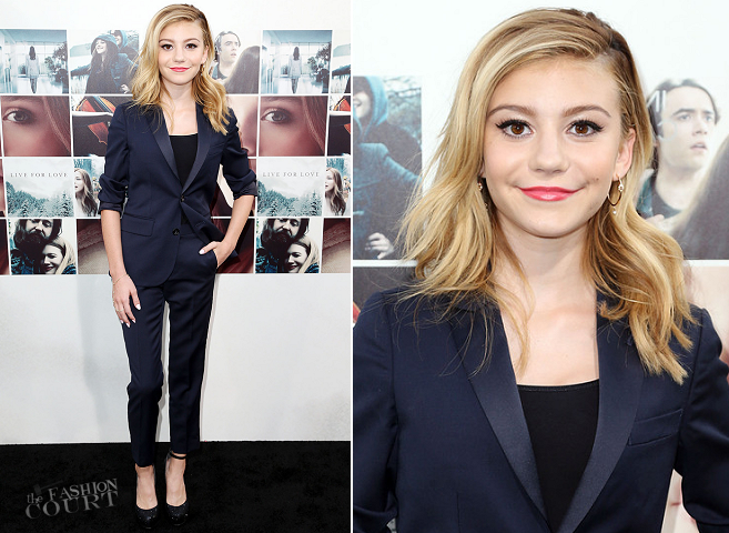 G. Hannelius in Crew Cuts | 'If I Stay' Hollywood Premiere