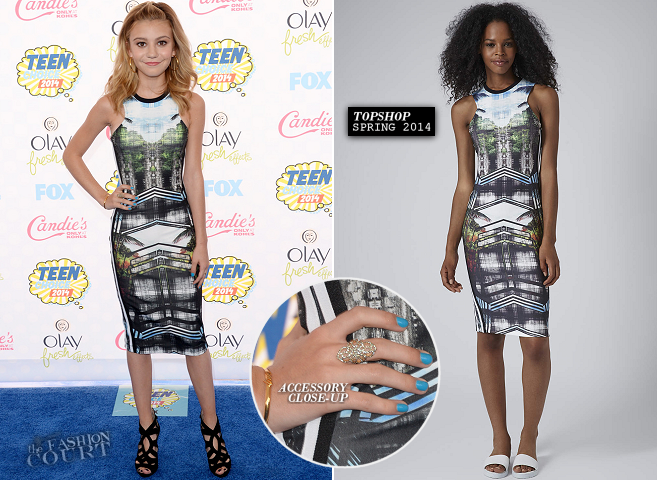 G. Hannelius in TopShop | 2014 Teen Choice Awards