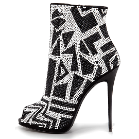 Giuseppe Zanotti Resort 2014 Swarovski Crystal Open Toe Booties