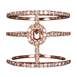 Graziela Gems Rose Couture Band Ring