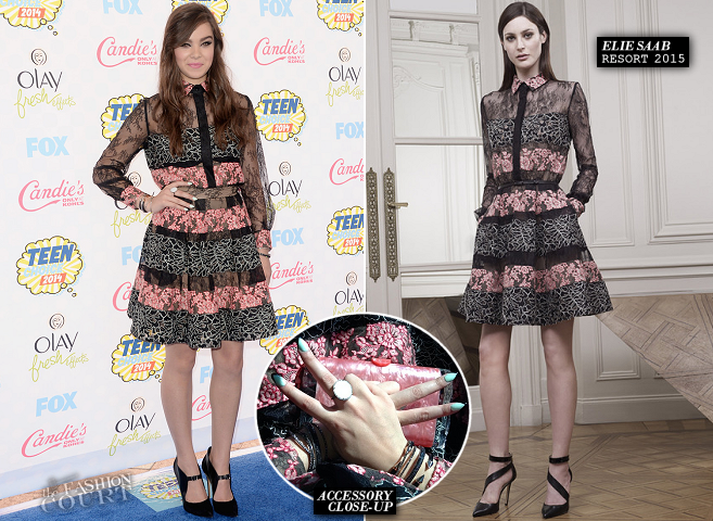 Hailee Steinfeld in Elie Saab | 2014 Teen Choice Awards