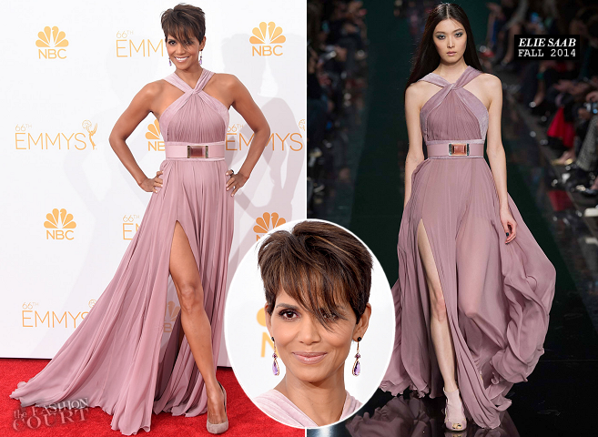 Halle Berry in Elie Saab | 2014 Primetime Emmy Awards