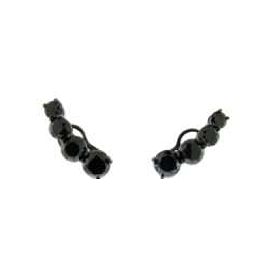 Jack Vartanian Universe Black Diamond Ear Climbers