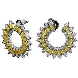 Jacob & Co. Yellow Diamonds and White Gold Earrings