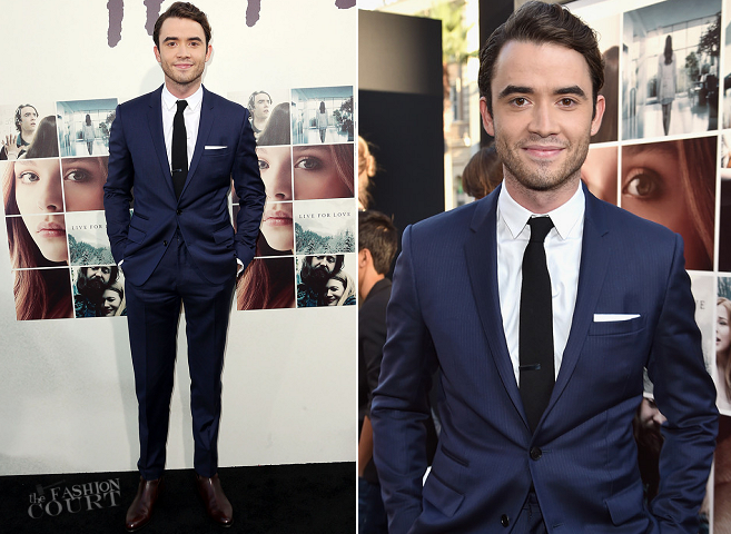 Jamie Blackley in Dior Homme | 'If I Stay' Hollywood Premiere