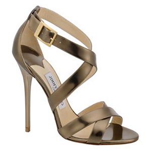Jimmy Choo 'Xenia' Sandals in Bronze
