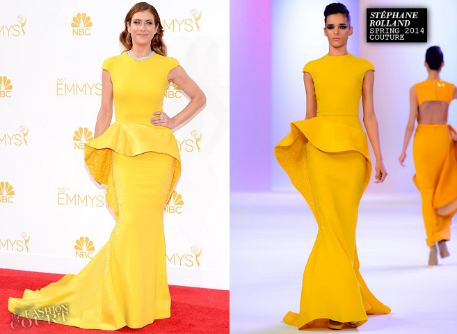 Kate Walsh in Stéphane Rolland Couture | 2014 Emmys
