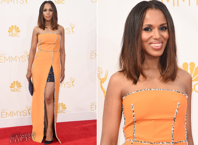 Kerry Washington in Prada | 2014 Emmys