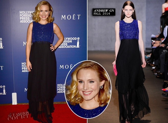 Kristen Bell in Andrew Gn | HFPA Grants Banquet 2014