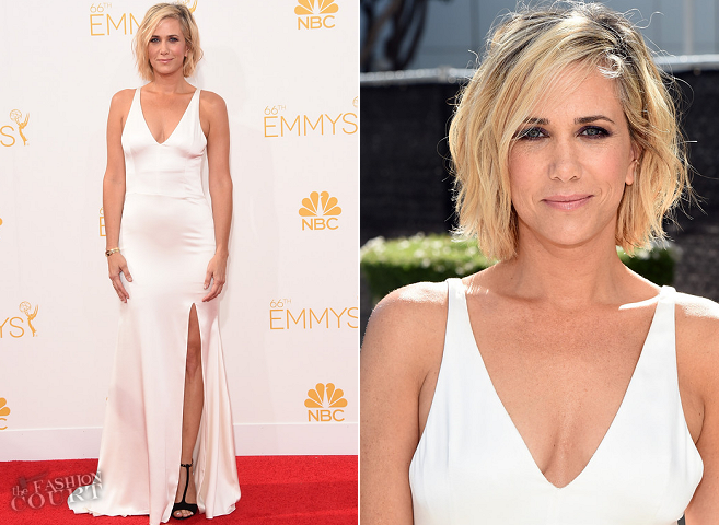 Kristen Wiig in Vera Wang | 2014 Primetime Emmy Awards