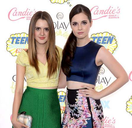 Laura Marano & Vanessa Marano in LUBLU, Paper London & Cynthia Rowley | 2014 Teen Choice Awards