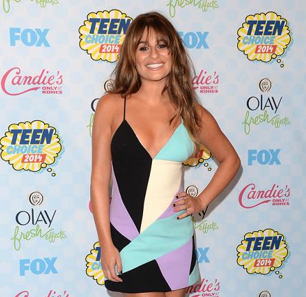 Lea Michele in Fausto Puglisi | 2014 Teen Choice Awards